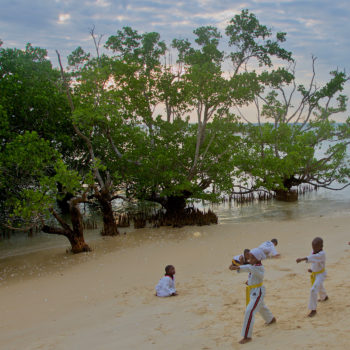 Children having Karate lessons in the Mangroves of Zanzibar // Rob Barnes // Tanzania